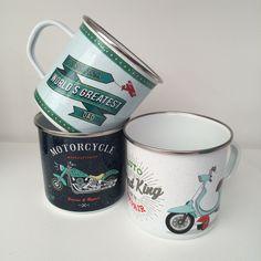 Retro Enamel Mug Designs #mug #homedecor #accessories #giftware