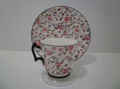 CHINTZ TEACUP SET.  Vintage English Chintz Cup and Saucer.