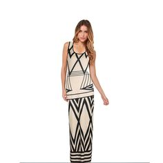 Women Modern Fashion Design Geometric Print Long Maxi Dresses Casual Summer Sleeveless Vestidos