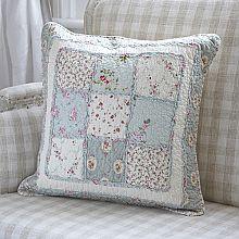 Blue Square Patchwork Cushion Cover-50cm Sq