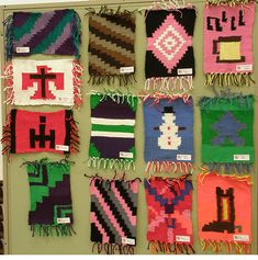 8th Grade artwork - Navajo Blankets - cardboard loom -wow they did great!