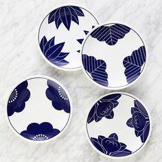 Maison Cobalt Blue Dessert Plates, Set of 4 | Crate and Barrel