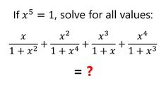 """What is the sum? The answer is """"too"""" good! Algebra Problems, Mathematics, Math Equations, This Or That Questions, Math"""