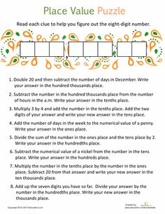 math worksheet : 1000 ideas about decimal place values on pinterest  decimal  : Place Value With Decimals Worksheets 5th Grade