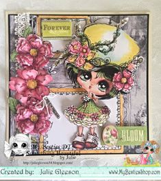 Something Beautiful By Julie 3d Cards, Cute Cards, Crafts To Do, Arts And Crafts, Create And Craft Tv, Green Hats, Pretty Green, Digi Stamps, Art Studies
