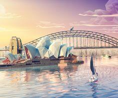 Etihad airways / LowPoly Sydney on Behance