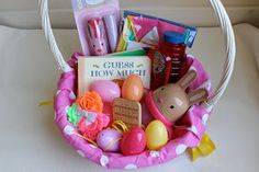 Easter basket for a one year old holidays pinterest easter easter basket for a 1 year old we g three rubys first easter basket negle Image collections