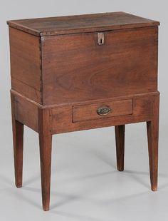 Walnut Federal sugar chest, North Carolina or Virginia, 19th C.