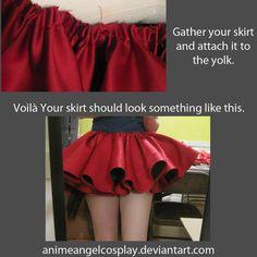 Dar volumen a las faldas