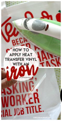 using only an iron to apply your iron on htv! #silhouettecameo #cricut #expressionsvinyl