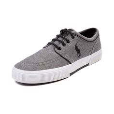 Shop for Mens Faxon Casual Shoe by Polo Ralph Lauren in Gray at Journeys Shoes. Shop today for the hottest brands in mens shoes and womens shoes at Journeys.com.Sporty causal sneaker from Polo featuring a cotton canvas upper, sharp-look side stitched Polo logo, and refined leather lace-up. Also features a padded shock absorbing insole and treaded rubber outsole for durable, everyday comfort. Available only at Journeys!