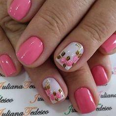 #nails #unhasecores #unhasdodia #unhasdasemana #unhasdodia #unhas💅 Sculpted Gel Nails, Nail Artist, Manicures, Nail Designs, Women's Fashion, My Favorite Things, Nice, Nail Design, Favors