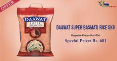 Shop Online for #Daawat #Super #Basmati #Rice 5 KG @ Rs. 681 on Kiraanastore.