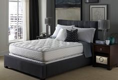 <p>Enjoy the most refreshing, restful slumber imaginable with the Hilton Bed, made by Serta. This is the same bed you enjoy during your stay at Hilton hotels, so you already know you love it. The Hilton bed is custom designed to the Hilton Hotel's exact specifications, this bed is posturized for added coil support and features a unique internal design that prevents edge breakdown. An innovative, patented quilt design and an inviting plush top mattress improves circulation and reduces night…
