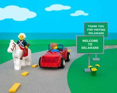 Delaware | All 50 States Recreated By Legos