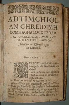 Page from Gaelic catechism