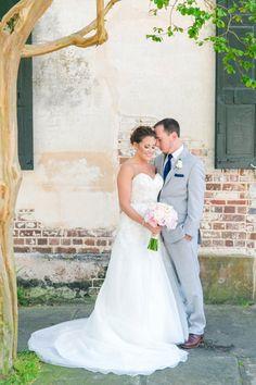 Patriots Point Charleston Wedding by Charleston wedding photographer Dana Cubbage featuring a Stella York wedding dress