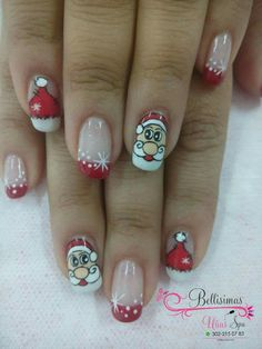 Cute Christmas Nails, Xmas Nails, Christmas Nail Art, French Manicure Nails, Manicure And Pedicure, Toe Nail Designs, Cool Nail Art, Shellac, Winter Nails