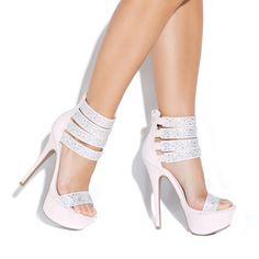 Those stunning platform sandals were designed by the actress Denise Richards ! - ShoeDazzle these! Strappy Shoes, Women's Shoes Sandals, Shoe Boots, Fly Shoes, Hot High Heels, Womens High Heels, Cute Shoes, Me Too Shoes, Awesome Shoes