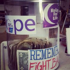 Fundraising Bucket Idea for Pals Relay for Life! (: