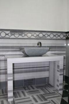 Striato Olimpico Marble Bath Design, Flooring, Interior, Backsplash, House, Tile Bathroom, Countertops, Grey Marble, Bathroom