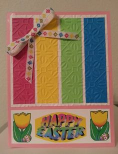 Easter card, I don't like the bottom but I love the top