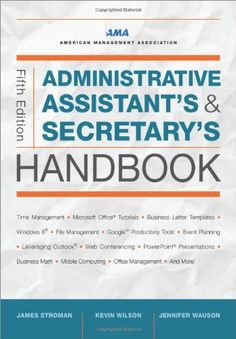 Administrative Assistant's and Secretary's Handbook Administrative Assistant s and Secretary s Handbook Office Assistant, Virtual Assistant, Personal Assistant Duties, Business Management, Time Management, Office Management, School Secretary Office, Administrative Professional, Executive Administrative Assistant