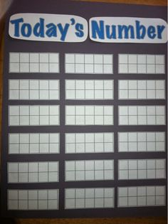 Today's number...talk about the # of school days in 10-frame format each day. I should do this because it would make the transition to using 10-frames easier and more easily understood by my kids! lots of resources for number talks here http://yukon-ed-math-kindergarten.wikispaces.com/Number