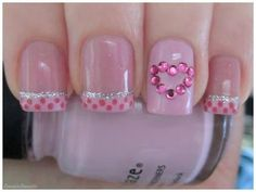 Valentine Nails  | See more nail designs at http://www.nailsss.com/acrylic-nails-ideas/2/