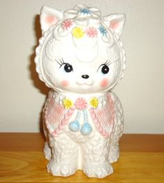 Adorable Vintage Kitty Planter Napcoware