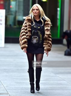 Erika Jayne is seen in Soho on February 23, 2016 in New York City.
