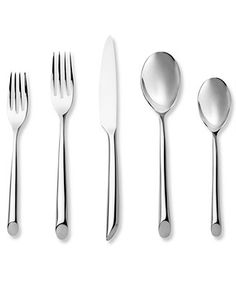 Nambe Flatware 18/10, Frond 3 Piece Serving Set