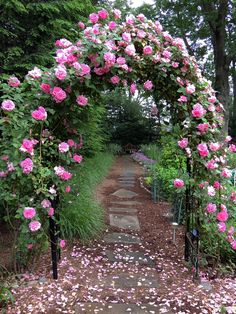 Romantic rose arbor in today's #FGgpod   Fine Gardening Garden Photo of the Day