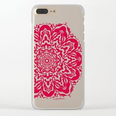 Red Bucket of Flakes Clear iPhone Case by Vikki Salmela