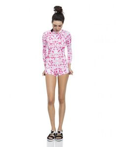 Cynthia Rowley - Printed Wetsuit with Zip Side | Surf & Swim