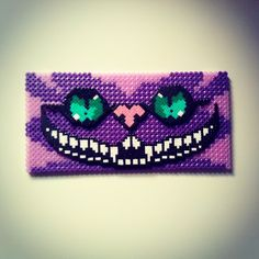 Cheshire Cat Alice hama beads by mahama_beads