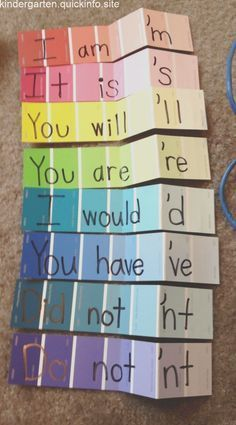 Paint strips to teach contractions 🙂 Update: I am so embarrassed. I created th… Paint strips to teach contractions 🙂 Update: I am so embarrassed. Learning Tools, Fun Learning, Learning Activities, Educational Activities, Phonics Activities, Learning Spanish, Motivational Quotes For Teachers, Teacher Quotes, Motivating Quotes