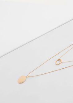 Collar triple colgantes | MANGO