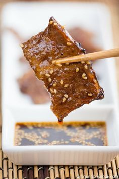 Yakiniku Sauce 焼肉のタレ - Yakiniku sauce is a sweet & flavorful Japanese BBQ sauce. It's perfect for dipping thinly sliced of well marbled short rib and other grilled goodies. #japanesefood #asianrecipes #BBQsaucehomemade #bbqideas #yakunikuathome | Easy Japanese Recipes at JustOneCookbook.com