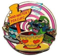 Disney Pin: Stitch Mad Hatter!!! I love it!