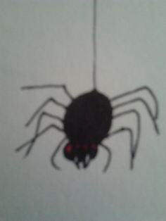 A creepy red eyed spider