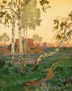 BOHUMÍR JARONĚK (CZECH, 1866 - 1933)  SUMMER EVENING (LETNÍ VEČER),1906