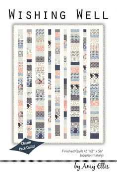 Wishing Well - Charm Pack Baby Quilt Pattern by Amy Ellis