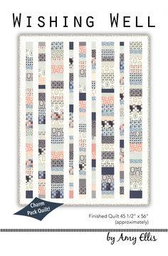 Wishing Well - Charm Pack Baby Quilt Pattern by Amy Ellis #showmethemoda - AmysCreativeSide.com