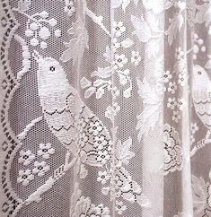 Thibaut Lace Ivory Birds Panel Woven For The Home
