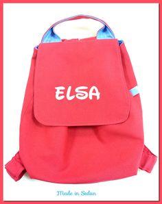 Sac à dos école maternelle rose fushia personnalisé avec prénom fille : Sacs enfants par made-in-sedan