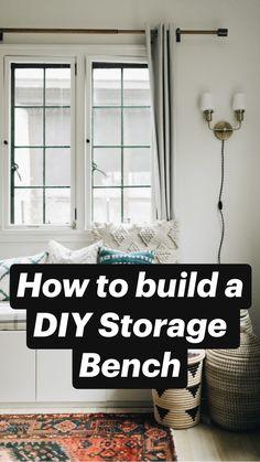 Diy Furniture Table, Diy Furniture Plans Wood Projects, Home Projects, Furniture Storage, Furniture Ideas, Ikea Furniture Hacks, Recycled Furniture, Ikea Hacks, Diy Storage Bench