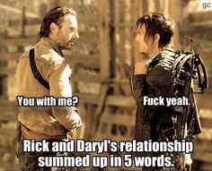 When rick called Daryl his brother I cried internally