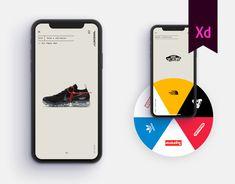 """Shoeciety"" - Sneakers App Concept on Behance Mobile Ui Design, App Ui Design, Interface Design, User Interface, Design Design, Interior Design, Design Thinking, Motion Design, App Design Inspiration"