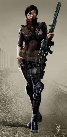 Cyberpunk Girl by DavidMontoro on deviantART